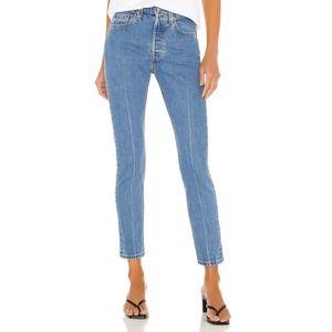 New Levi's 501 Skinny Jean in Jive Depths Size 27